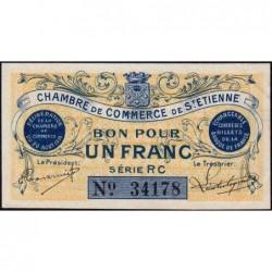 Saint-Etienne - Pirot 114-4 variété - 1 franc - Série RC - 20/08/1914 - Etat : SPL