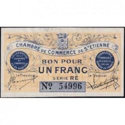 Saint-Etienne - Pirot 114-4 - 1 franc - Série RE - 20/08/1914 - Etat : SUP+