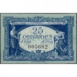Saint-Etienne - Pirot 114-5 - 25 centimes - Sans Série - 12/01/1921 - Etat : SUP+
