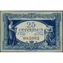 Saint-Etienne - Pirot 114-5 - 25 centimes - Sans Série - 12/01/1921 - Etat : SPL+
