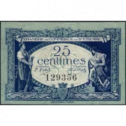 Saint-Etienne - Pirot 114-5 - 25 centimes - Sans Série - 12/01/1921 - Etat : SPL