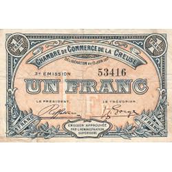 Gueret (Creuse) - Pirot 64-14 - 1 franc - 1917 - Etat : TB
