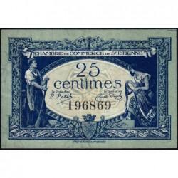 Saint-Etienne - Pirot 114-5 - 25 centimes - Sans Série - 12/01/1921 - Etat : SUP