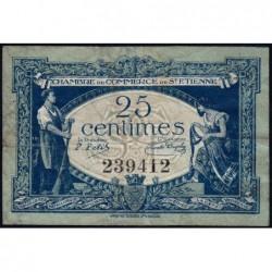 Saint-Etienne - Pirot 114-5 - 25 centimes - Sans Série - 12/01/1921 - Etat : TB-