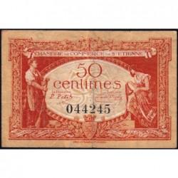 Saint-Etienne - Pirot 114-6 - 50 centimes - Sans Série - 12/01/1921 - Etat : TB+