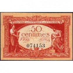 Saint-Etienne - Pirot 114-6 - 50 centimes - Sans Série - 12/01/1921 - Etat : SUP