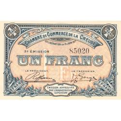 Gueret (Creuse) - Pirot 64-14 - 1 franc - Sans série - 3e émission - 15/06/1917 - Etat : SPL