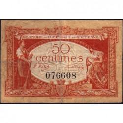 Saint-Etienne - Pirot 114-6 - 50 centimes - Sans Série - 12/01/1921 - Etat : TB