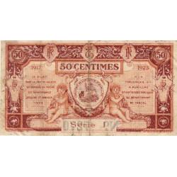 Aurillac (Cantal) - Pirot 16-12a-I - 50 centimes - 1917 - Etat : TB+