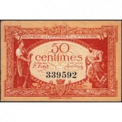 Saint-Etienne - Pirot 114-6 - 50 centimes - Sans Série - 12/01/1921 - Etat : TTB+