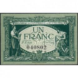 Saint-Etienne - Pirot 114-7 - 1 franc - Sans Série - 12/01/1921 - Etat : NEUF