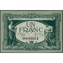 Saint-Etienne - Pirot 114-7 - 1 franc - Sans Série - 12/01/1921 - Etat : SPL