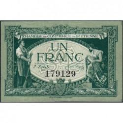 Saint-Etienne - Pirot 114-7 - 1 franc - Sans Série - 12/01/1921 - Etat : SUP+