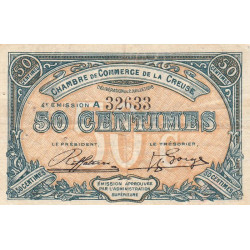 Gueret (Creuse) - Pirot 64-16-A - 50 centimes - 1918 - Etat : TB