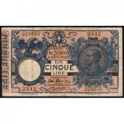 Italie - Pick 23d - 5 lire - 1915 - Etat : TTB-
