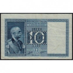 Italie - Pick 25a - 10 lire - 1935 - An XIII - Etat : TTB