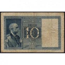 Italie - Pick 25a - 10 lire - 1935 - An XIII - Etat : TB