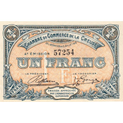 Gueret (Creuse) - Pirot 64-17 - 1 franc - 1918 - Etat : SUP+