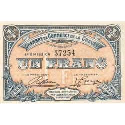 Gueret (Creuse) - Pirot 64-17 - 1 franc - Sans série - 4e émission - 02/07/1918 - Etat : SUP+