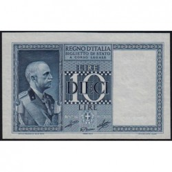 Italie - Pick 25c_1 - 10 lire - 1939 - An XVIII - Etat : NEUF