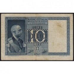 Italie - Pick 25c_1 - 10 lire - 1939 - An XVIII - Etat : TB+