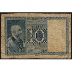 Italie - Pick 25c_1 - 10 lire - 1939 - An XVIII - Etat : B+