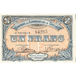 Gueret (Creuse) - Pirot 64-17 - 1 franc - 1918 - Etat : SPL