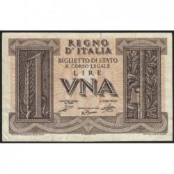 Italie - Pick 26 - 1 lira - 1939 - An XVIII - Etat : TTB