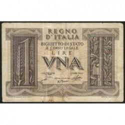 Italie - Pick 26 - 1 lira - 1939 - An XVIII - Etat : TB+