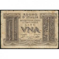 Italie - Pick 26 - 1 lira - 1939 - An XVIII - Etat : TB-