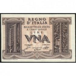 Italie - Pick 26 - 1 lira - 1939 - An XVIII - Etat : NEUF