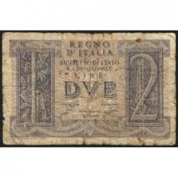 Italie - Pick 27 - 2 lire - 1939 - An XVIII - Etat : B+