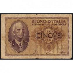 Italie - Pick 28_1 - 5 lire - 1940 - An XVIII - Etat : TB-
