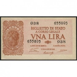 Italie - Pick 29a - 1 lira - 1946 - Etat : NEUF