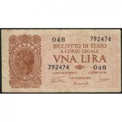 Italie - Pick 29a - 1 lira - 1946 - Etat : TB+