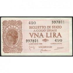 Italie - Pick 29b - 1 lira - 1950 - Etat : SPL