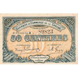 Gueret (Creuse) - Pirot 64-19 - 50 centimes - Série B - 5e émission - 14/02/1920 - Etat : TTB