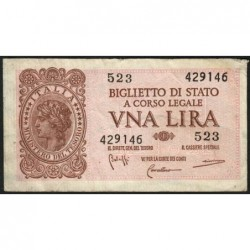 Italie - Pick 29b - 1 lira - 1950 - Etat : TTB-