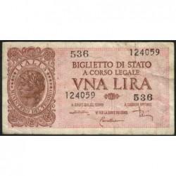 Italie - Pick 29c - 1 lira - 1953 - Etat : TB