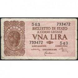 Italie - Pick 29c - 1 lira - 1953 - Etat : TB+