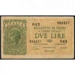 Italie - Pick 30a - 2 lire - 1946 - Etat : TTB-