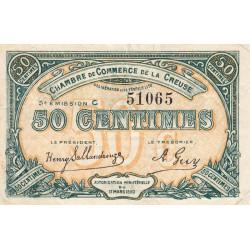 Gueret (Creuse) - Pirot 64-19 - 50 centimes - Série C - 5e émission - 14/02/1920 - Etat : TTB