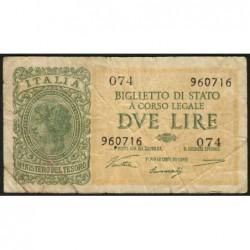 Italie - Pick 30a - 2 lire - 1946 - Etat : TB