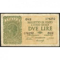 Italie - Pick 30a - 2 lire - 1946 - Etat : TB+