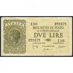 Italie - Pick 30b - 2 lire - 1950 - Etat : TTB