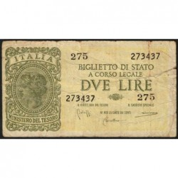 Italie - Pick 30b - 2 lire - 1950 - Etat : B+