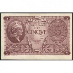 Italie - Pick 31b - 5 lire - 1948 - Etat : NEUF