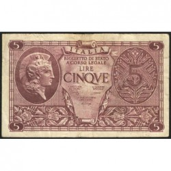 Italie - Pick 31b - 5 lire - 1948 - Etat : TB+