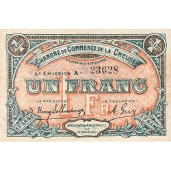 Gueret (Creuse) - Pirot 64-20 - 1 franc - Série A - 5e émission - 14/02/1920 - Etat : TB+