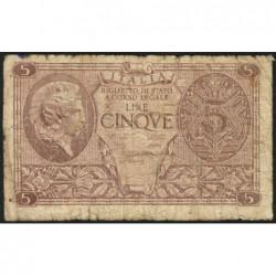 Italie - Pick 31b variété - 5 lire - 1948 - Etat : B